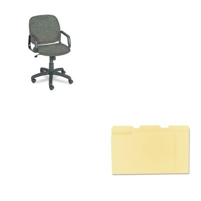 KITSAF7045GRUNV12113 - Value Kit - Safco Cava Urth Collection High Back Swivel/Tilt Chair (SAF7045GR) and Universal File Folders (UNV12113) kitqua37798saf7751gr value kit quality park clasp envelope qua37798 and safco e z sort steel mail sorter module saf7751gr