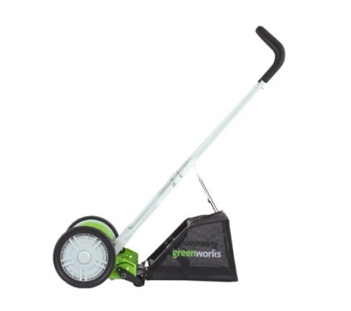 GreenWorks 16-Inch Reel Lawn Mower with Grass Catcher 25052