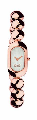 D & G DW0229 Ladies 'Treats' Stainless Steel Rose Gold Coloured IP Bracelet Watch