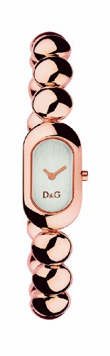 D&G Dolce&Gabbana DW0229 - Reloj analógico de mujer de cuarzo con correa de acero inoxidable rosa - sumergible a 30 metros