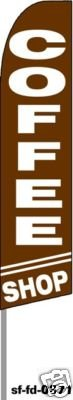 Coffee Shop Feather Banner Flag (Complete Kit)
