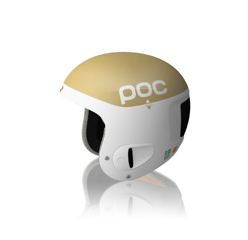POC Skihelm Skull Comp The Swedes, gold/white, XS-S/51-54