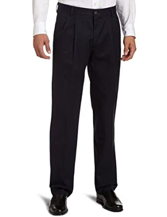 Dockers Men's Big and Tall Iron Free Khaki Pleated Pant, Hale Navy, 46x34