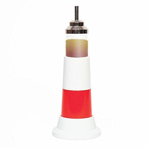 Kit sel, poivre et vinaigre design en forme de phare - Distributeur de sel et poivre - Cadeau déco bord de mer ou objet déco mer