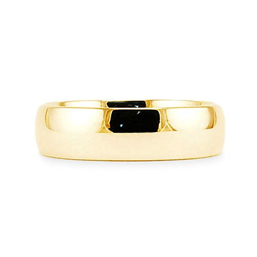 14k-Yellow-Gold-Plain-Classic-5mm-COMFORT-FIT-WEDDING-BAND-size-9
