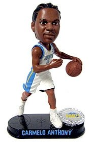 Denver Nuggets Carmelo Anthony Forever Collectibles Blatinum Bobble Head by Hall+of+Fame+Memorabilia