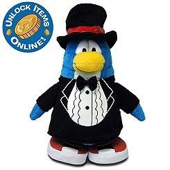 Buy Low Price Jakks Pacific Disney Club Penguin 6.5 Inch Series 13 Plush Figure Classy TShirt Includes Coin with Code! (B005ERKJO6)