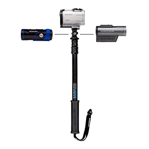 "SANDMARC® Pole - Action Edition: 17-40"" Telescoping Aluminum Extension Pole (Selfie Stick) for Action Cameras - GoPro, Sony Action Cam, Contour, Drift Cam, Ion, and 1/4"" Cameras - Lifetime Warranty"
