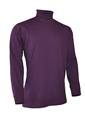 Glenmuir Mens Roll Neck Long Sleeve Cotton Shirt by Glenmuir