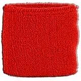 Digni® Poignet éponge avec drapeau Unicolore Rouge, pack de 2