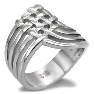 Stainless Steel Woven Style Fashion Ring