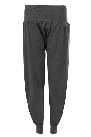 Fast Fashion - Pantalon Sarouel en Longueur Harem - Femme - 36/38 - Charbon