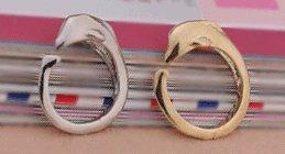ゴールド&シルバー ドルフィンリング ピンキーリング 指輪 イルカ 2個セット