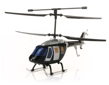 G.T. Model 3 Channels Remote Control Helicopter with Gyroscope (Black)