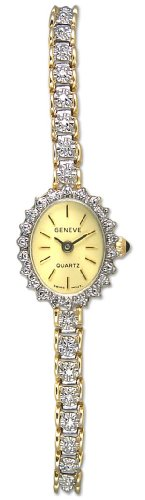 Geneve Mini 14k Solid Gold Diamond Womens Watch W080824