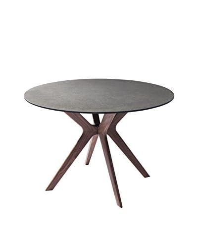 Whiteline Redondo Modern Glass Dining Table
