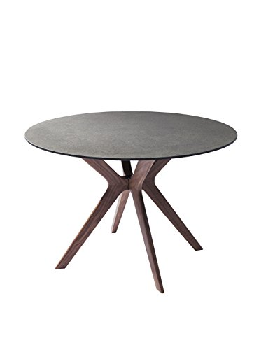 Whiteline Redondo Modern Glass Dining Table