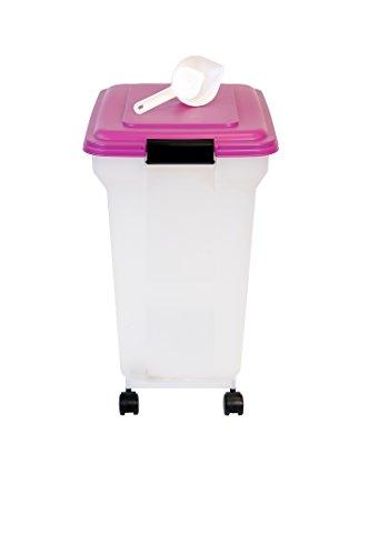 141024 Luftdichte Pet Futtertonne, Futtercontainer, Futterbehälter, 45 Liter / 15 kg, violett