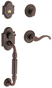 Baldwin 85305.112.LDBL Canterbury Sectional Trim Left Hand Handleset with Wave Lever, Venetian Bronze