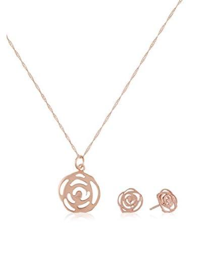 Cordoba Jewels Set catenina, pendente e orecchini  argento 925 bagnato oro