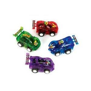 12 Pull Back Racer Cars