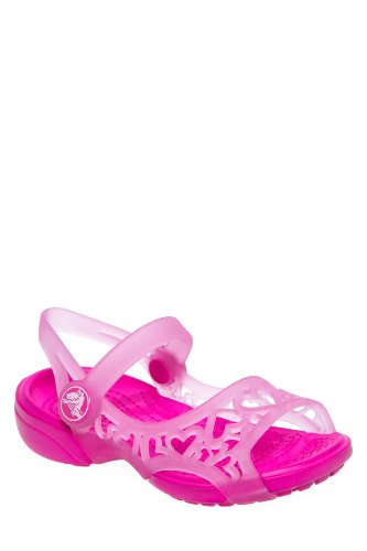 Crocs Kid's Adrina Hearts Open Toe Slingback Sandal
