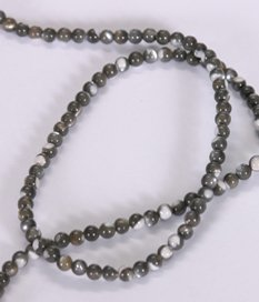 Black & White Mother Of Pearl Round Loose Beads Strand 16