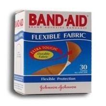 Band-Aid Adhesive Bandages Flexible Fabric, One