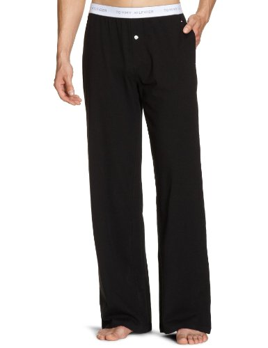 Tommy Hilfiger Mens Jersey Pants Men's Loungewear Black Large