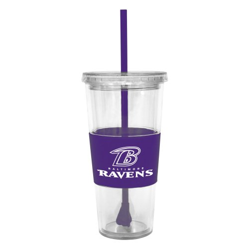 Nfl Baltimore Ravens Lidded Cold Cup With Straw Picture