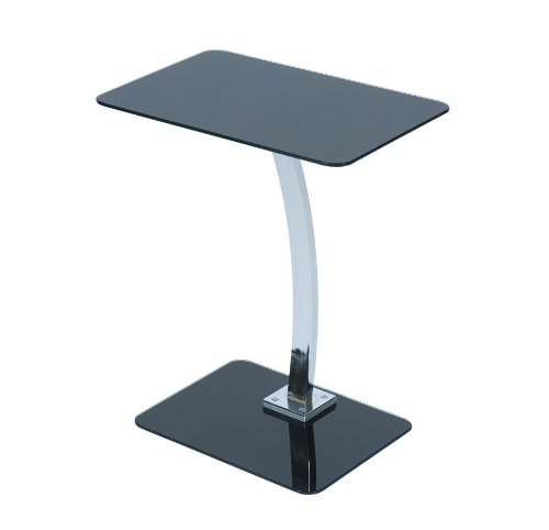 Levv Square Glass Laptop Table - Black