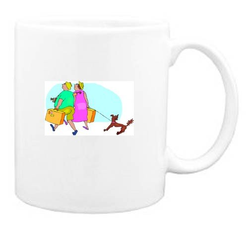 Mug with travel, trip, dog, travelers, pet, vacation