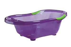 dbd remond 306022 baby bathtub with non slip plug and handles translucent purple. Black Bedroom Furniture Sets. Home Design Ideas