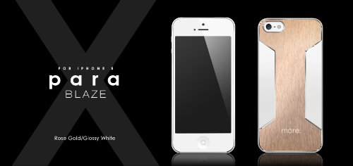 Best Price Para Blaze X for iPhone 5 (Rose Gold/Glossy White)