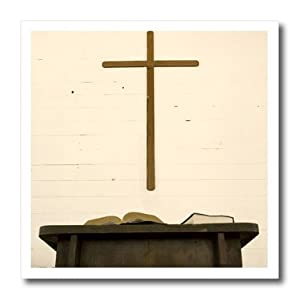 ht_94332_1 Danita Delimont - Churches - Tennessee, Church, Cross, bible, pulpit - US43 BJA0006 - Jaynes Gallery - Iron on Heat Transfers - 8x8 Iron on Heat Transfer for White Material