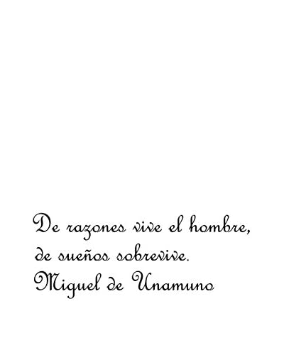 Ambiance Live Wall Decal Miguel de Unamuno DeRazones black
