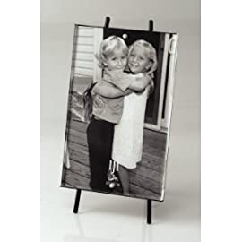 Magnetic Acrylic Picture Frame with Black Metal Easel, Fits One Vertical 4'' x 6'' Photo