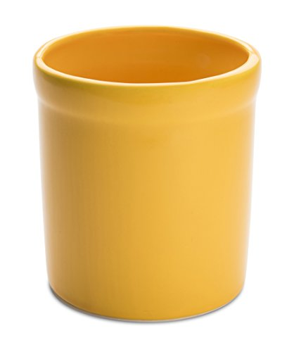 American Mug Pottery Ceramic Utensil Crock Utensil Holder, Made in USA, Yellow (Pottery Kitchen compare prices)