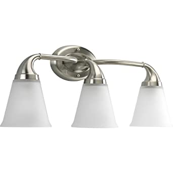 Vanity Lights Up Or Down : Price Progress Lighting P2760-09 3-Light Bath Which Mounts Up Or Down, Brushed Nickel - Vanity ...