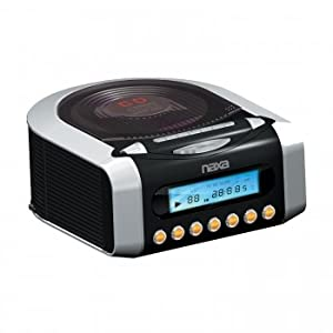 naxa electronics nrc 157 digital alarm clock with digital tuning am fm radio and cd. Black Bedroom Furniture Sets. Home Design Ideas
