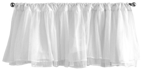 Tulle Window Valance in White