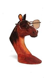 brown peeper wood eyeglass and
