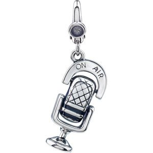 925 Sterling Silver Microphone Charm