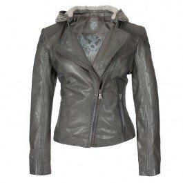 Mauritius Gipsy donna giacca in pelle Lola LEGV, Grey Grau L