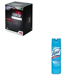KITMIIVEN6045RAC04675EA - Value Kit - Medline Venom Steel Industrial Nitrile Gloves (MIIVEN6045) and Professional LYSOL Brand Disinfectant Spray (RAC04675EA)