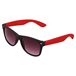 Benour BENWAF005 Black Red Wayfarer Unisex Sunglasses