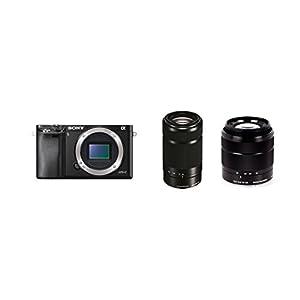 Sony Alpha a6000 Digital Camera Wi-Fi w/ 18-55mm 55-210mm Zoom Lens Bundle