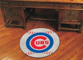 Chicago Cubs Baseball Shaped Rug