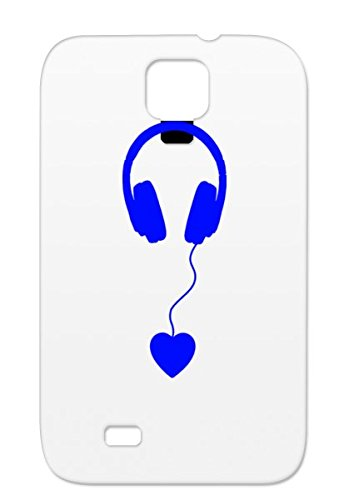 Shatterproof Headphones Music Nano Old Skool Music Speaker House Trance Tune Drum R B Retro Dance Ipod Devotion Old Passion Listen Blue Beat Headphone Love Base Navy For Sumsang Galaxy S4 Protective Case