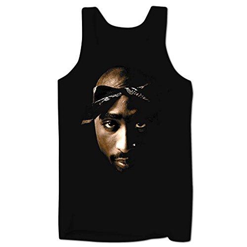 Bang Tidy Clothing Men'S Tupac Face Low Cut Vest Black M